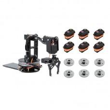 6DOF Unassembled Mechnical Robotic Arm Disk Type + 6PCS MG996R Servo + 6PCS Metal Servo Wheel