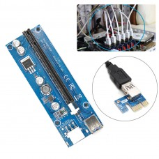 PCI-E Express USB3.0 1x to16x Extender Riser Card Adapter SATA Power Extension Cable