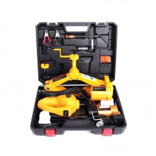 2.0 Ton Electric Car Jack Kit Scissor Floor Lift Auto Wrench Air Pump 12V 42CM
