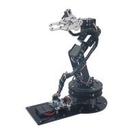 Aluminium 6 DOF Robotic Arm Clamp Claw &6pcs MG996R Servos & 32CH Controller Full Set for Arduino-Black