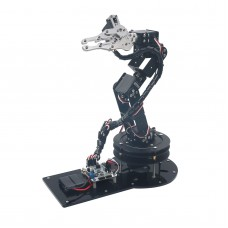Aluminium 6 DOF Robotic Arm Clamp Claw & 6 pcs Customized Servos & 32CH Controller 500g Load for Arduino