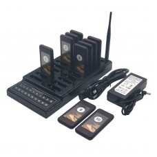 Restaurant Wireless Coaster 10 Pagers DC 5V Power supply Guest Waiter Call Paging Queuing System