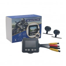 """C6 Motorcycle Car Digital DVR Recorder Sports Video 2.0""""Touch 720P Seal Double Cameras"""