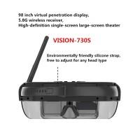 VISION-730S Wireless FPV Goggles 3D Video Glasses 5.8GHz 40CH 98 inch Private Virtual Theater