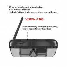 VISION-730S Wireless FPV Goggles 3D Video Glasses 5.8GHz 40CH 98 inch Private Virtual Theater