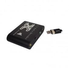 5.1 CH ACS/DTS Digital Audio Decoder Converter Fiber Coaxial SX-512B USB 2.0 Box Player for PC DVD Headphone