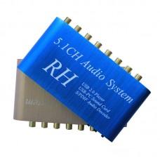 5.1 CH ACS/DTS Digital Audio Decoder Converter Fiber Coaxial USB 2.0 Digital Sound Box HD Player for PC DVD Headphone