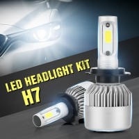 2PCS 200W 20000LM H7 CREE LED Lamp Headlight Kit Car Beam Bulbs 6000K Cool White