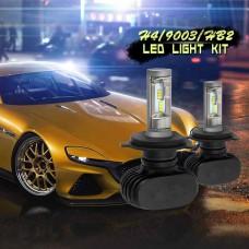 H4 9003 HB2 CSP LED Headlight Conversion Kit 600W 72000LM Hi/Lo Bulb 6500K White