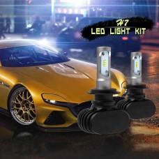 CSP Chips 6500K White H7 Car Headlight Bulb Kits H7 Led 50W 8000lm Fan-less Single Beam 2x Lamps