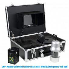 360° Panning Underwater Camera HD Fish Finder IP68 1000TVL Waterproof 9'' LCD 20M F08A-20