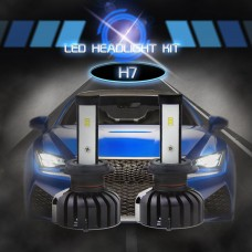 CSP Chips H7 Led Car Bulbs 6500K White 80W LED Headlight Kit 360° Beam Pattern IP65 Waterproof