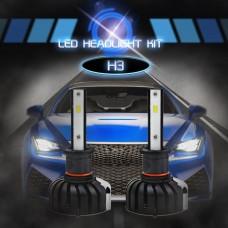 H3 CSP Chips LED Headlights Bulbs 6000K Car Fog Lamp 80W 8000LM IP65 Waterproof