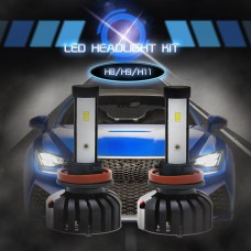 H8/H9/H11 CSP Chips LED Headlights Bulbs Car Fog Lamp 6000K IP65 Waterproof 80W 8000LM