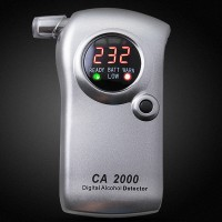 CA2000 Alcohol Wine Tester Meter Detector Drunkometer Breathalyzer Blowing Breath Checker