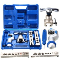 Air Conditioning Ratchet Eccentric Cone Flaring Flare Tool Kit R410A Refrigeration WK-806FT-L