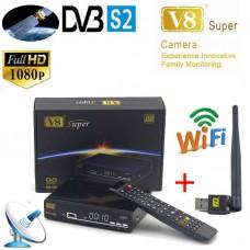 HD Freesat V8 Super DVB-S2 Digital Satellite Receiver Full 1080P With USB Wifi