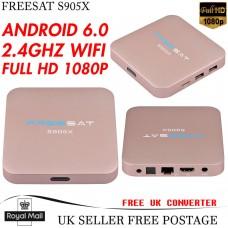 Freesat Amlogic S905X TV Box Bluetooth 2-8G Wifi HD 1080P 4K Quad Core Android 6.0