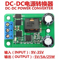 DC-DC Step Down Buck Converter Power Supply Module 24V 12V to 5V 5A 25W MF