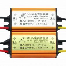 12V/24V to 5V DC-DC Power Converter 24V to 12V 5A for Vehicle LED Display