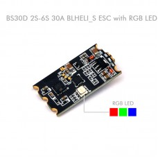BS30D 30A 2-6S BLHELI_S Brushless Electronic Speed Controller ESC W/ RGB LED
