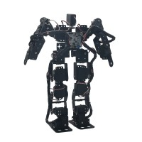17DOF Biped Robotic Educational Robot Humanoid Robot Kit Servo Bracket Ball Bearing Black