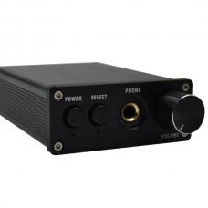 ZHI LAI T6 Aluminum Audio Decoder DAC Headphone Amplifier Fiber Coaxial Signal Input 24BIT96KHZ Black