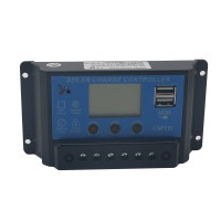 LCD Solar Charge Controller 20A 12V 24V PWM Regulator Timer and Light Control Dual USB SWC20A