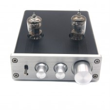 ZL D2 HIFI Digital Audio Preamp 6J1 Valve Tube Preamplifier Dual Channel Treble Bass with Power Adapter Silver