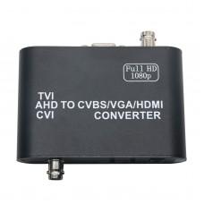 HD Video Encoder 1080P AHD TVI CVI to HDMI VGA BNC MINE Converter AHD1509