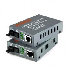 1Pair HTB-3100A/B Optical Fiber Ethernet Media Fiber Converter 25km SC 10/100M