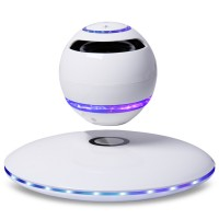 Wireless Speaker Bluetooth Floating Magnetic Levitating Speaker LED for Christmas Gift Colorful White Black