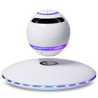 Wireless Speaker Bluetooth Floating Magnetic Levitating Speaker LED for Christmas Gift Colorful White Black
