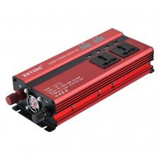 Car LED Power Inverter Converter DC 24V To AC 220V 1200W USB Ports Charger