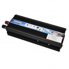 Car LED Power Inverter DC 12V To AC 110V 2000W Adapter Converter Charger USB Ports