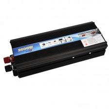Car LED Power Inverter DC 24V To AC 110V 2000W Adapter Converter Charger USB Ports
