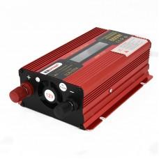 600W Car LED Power Inverter Converter DC 12V To AC 220V LCD Diplay