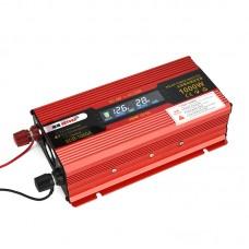 1000W Car LED Power Inverter Converter DC 24V To AC 110V LCD Diplay General Socket