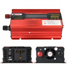 600W Car LED Power Inverter Converter DC 24V To AC 220V LCD Diplay Modified Sine Wave