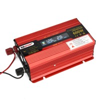 600W Car LED Power Inverter Converter DC 12V To AC 110V LCD Diplay Modified Sine Wave