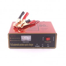 Full Automatic Intelligent Battery Charger Negative Pulse Dry Wet Quick Charger 6V/12V 6AH-80AH XW-10