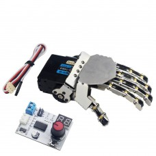LewanSoul Hand-made Robotic Hand 5 Finger with Digital Servo and Servo Tester Left