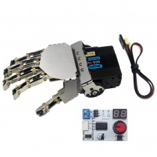 LewanSoul Hand-made Robotic Hand 5 Finger with Digital Servo and Servo Tester Right