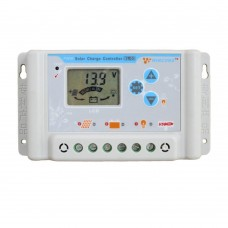 30A PWM Solar Charge Controller 12V 24V USB LCD Display Adjustable Parameter for Li Li-ion Lithium LiFePO4 Batteries
