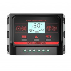 PWM 12V 24V 30A Solar Controller with Backlight LCD Function Dual USB 5VDC Output Solar Panel Battery Charge Regulator