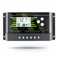 12V 24V PWM Solar Controller Backlight LCD Solar Charge Controller with Dual USB 5V New Design Z Series 30A Solar Energy