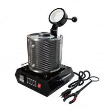 2KG Gold Digital Melting Machine Furnace Kiln 220V Refining Gold Silver 1150℃