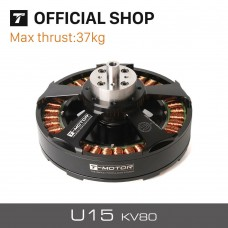 T-Motor 37KG+ Thrust U15 KV80 Motor 12-24S Efficient Powerful for UAV Multirotor Helicopter Quadcopter RC Drones