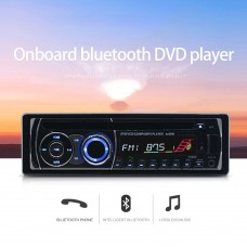 Onboard Bluetooth CD DVD Player Stere 12V FM Radio 8169A with FM Tuner AUX USB Charger