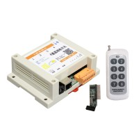 4-channel Network Relay Switch Temperature Humidity Control with 8-channel 300m Remote Controller
